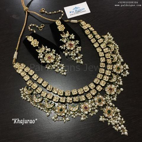 Khajurao kundan necklace set