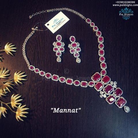 Mannat Ruby Necklace set