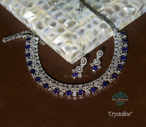 Crystaline Diamond Necklace Set