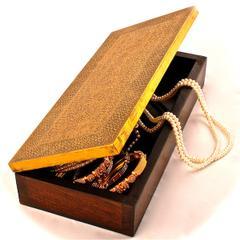 """Wood & brass jewellery box """"Regal"""""""