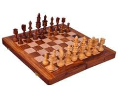 "Purpledip Wooden Chess Set with Medieval Design Pieces ""Mughal Army"" (10412)"