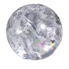 Purpledip Crystal ball for use in Feng Shui Fountains (10503)
