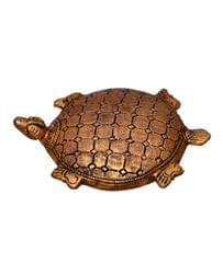 Purpledip Pure Brass Feng Shui tortoise showpiece, paper weight Good Luck charm (10523)