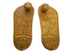 Purpledip Brass Padukas / Charan: Impression Of God's Footprints (10669)