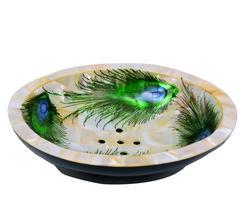 Peacock Design Premium Mother of Pearl Soap Dish (10711)