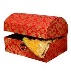 Purpledip Designer Wooden Trunk For Wedding Gift Trousseau Packing (10752)