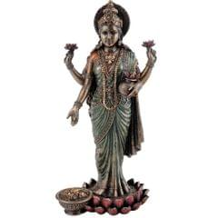 Standing Lakshmi Laxmi Mahalakshmi Goddess of Wealth Fortune Statue Figurine Decor Gift 10833