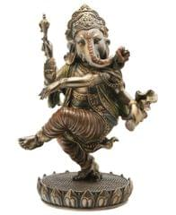 Dancing Ganesha Ganpati Vinayak Statue Idol for Home Temple Decor Indian Gift 10836