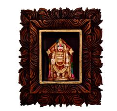 Purpledip Tirupati Balaji Venkateshwara Statue: Sculpted in Poly Resin for Home Temple, Office Table, Car Dashboard or Shop Puja Shelf (10797)