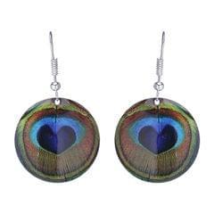 Purpledip Earrings 'Peacocok Dance': Light Weight Funky Ear Rings Designed By Master Craftsmen (30119)