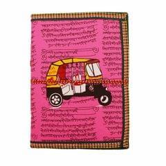 Purpledip Handmade Paper Journal 'Road Warrior': Vintage Diary Notebook With Thread Closure (11160)
