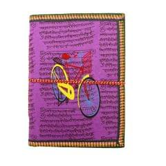 Purpledip Handmade Paper Journal 'Catch Me If you Can': Vintage Diary Notebook With Thread Closure (11162)
