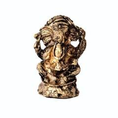 Purpledip Rare Miniature Statue Drishti Ganesha: Unique Collectible Gift (11172)