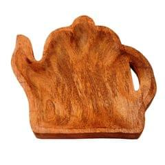 Wooden Serving Tray / Platter 'Tea-time': Small Plate For Snacks, Cookies, Fruits Or Aftermints (11288)