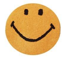 Purpledip Smiley Door Mat: Thick, Soft, Non-skid Floor Carpet Rug (11313b)