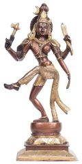 Dancing Ardhanarishwar Half Shiva Half Parvati Solid Pure Brass Statue (10683a)