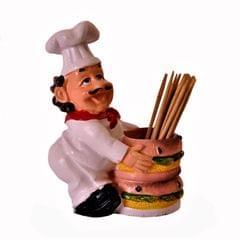 Ceramic Toothpick Holder 'Masterchef'; Kitchen Dining Quirky Decor Gift (11379)