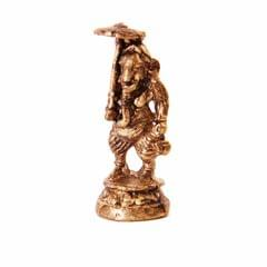 Rare Miniature Statue Chhatra Ganesha Under Canopy, Unique Collectible Gift (11401)