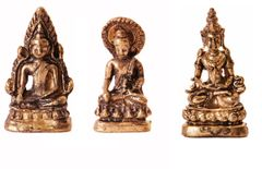 Rare Miniature Statue Set Lord Buddha in 3 Different Poses, Unique Collectible Gift (11408)