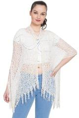 Purpledip Viscose Stole 'Summer Breeze': Loose Weave Light Weight Scarf; Fashion Statement Piece (20015)