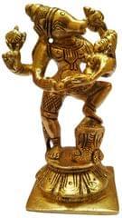 Brass Idol Varaha Lakshmi: Lord Vishnu's Avatar & His Consort, Bhudevi (11572)
