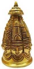 Brass Idol Lord Shiva Stupa: Rare 8-face Omnipresent Siva Statue (11575)