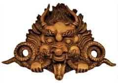 Purpledip Resin Wall Hanging Lord Garuda: Evil Eye & Good Luck Charm Idol (11658)