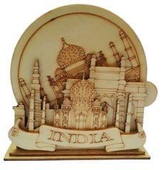 Purpledip Wooden Coasters Set of 5: Taj Mahal (11669)