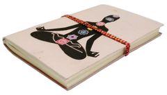 Handmade Journal (Vintage Diary) 'Seven Chakras': Handmade Paper Notebook; Unique Gift for Personal Memoir (11695)