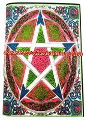 Handmade Journal (Vintage Diary) 'Pentagram': Handmade Paper Notebook; Unique Gift for Personal Memoir (11696)
