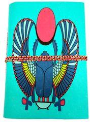 Handmade Journal (Vintage Diary) 'The Sun God': Handmade Paper Notebook; Unique Gift for Personal Memoir (11697)