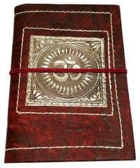 Handmade Journal (Vintage Diary) 'Divine Om': Handmade Paper Notebook; Unique Gift for Personal Memoir (11699)