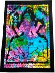 Purpledip Cotton Wall Poster Beach Throw 'Shiva, The Destroyer Of Evils': Bohemian Wall Hanging Tapestry (20027)