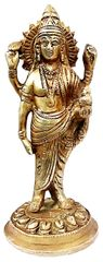 Purpledip Brass Statue Dhanvantari, The God of Ayurveda Healing(11737)