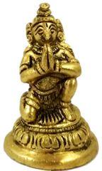 Purpledip Brass Statue Garuda: Vishnu Vahana Varadaraja Perumal (11757)