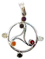 Purpledip Chakra Pendant: Triskelion Triskele Christian Celtic Symbol Locket (11763)