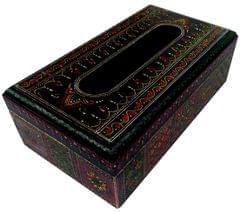 Purpledip Wooden Tissue Box Paper Napkin Holder: Hand-painted Dining Kitchen Accessory (11797)