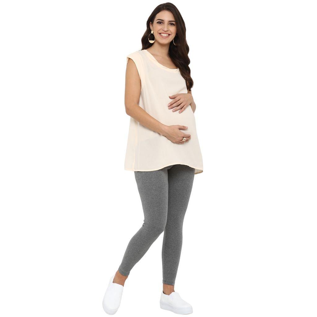 Maternity Track Pants / Slacks underbelly style Grey