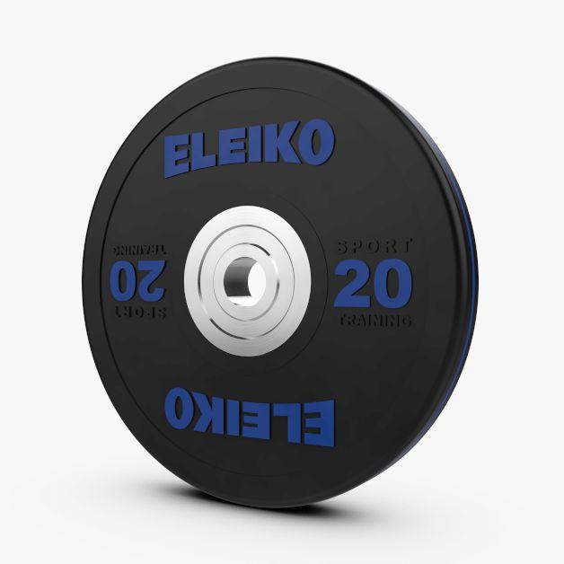 ELEIKO SPORT TRAINING DISC - BLACK 10-25KG