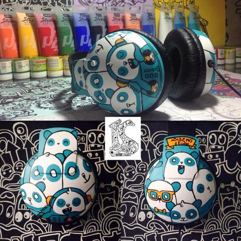 Love DJ Panda Customised headphones..  - Philips SHP1900