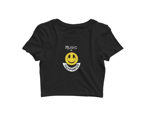 Music is Happiness   Croptop for music lovers
