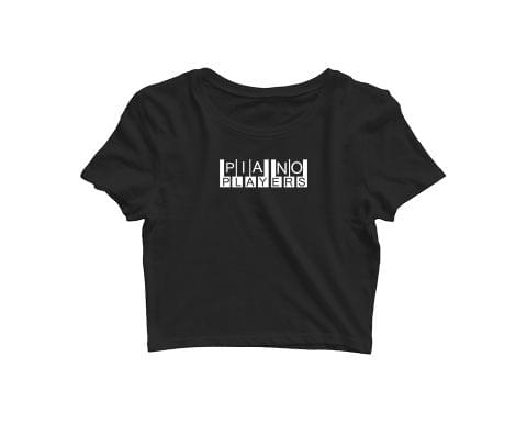 Piano Players   Croptop for music lovers