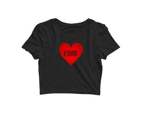 Love for EDM   Croptop for music lovers