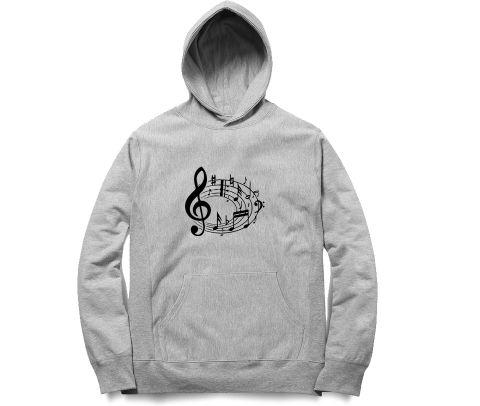 Music Notes   Unisex Hoodie Sweatshirt for Men and Women
