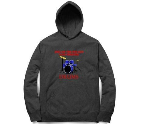 God Created Drums   Unisex Hoodie Sweatshirt for Men and Women