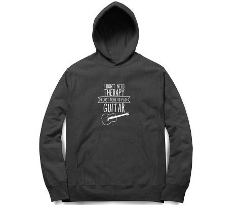 Therapy by Guitar   Unisex Hoodie Sweatshirt for Men and Women
