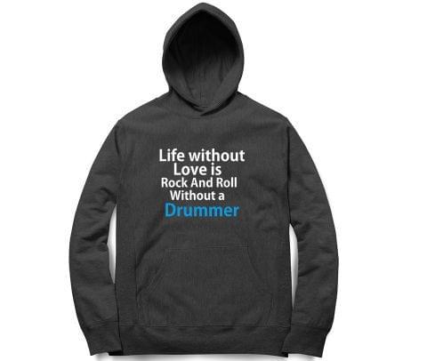 Rock n Roll with Drummer   Unisex Hoodie Sweatshirt for Men and Women