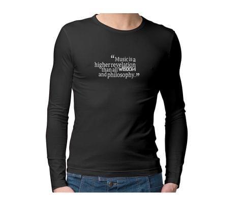 Wisdom of Music  Unisex Full Sleeves Tshirt for men women