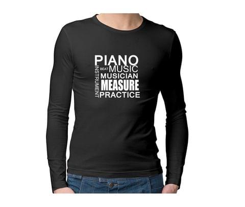 Piano Players  Unisex Full Sleeves Tshirt for men women