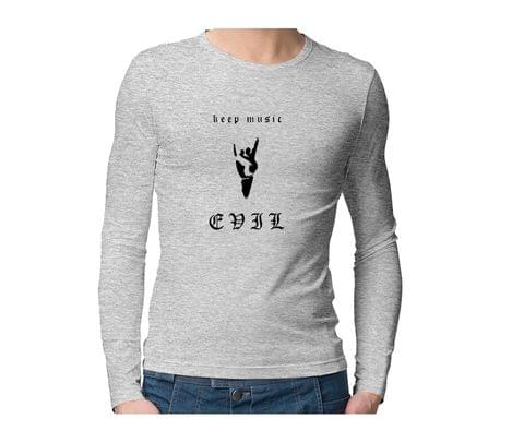 Keep Music Evil  Unisex Full Sleeves Tshirt for men women